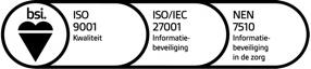 Intramed heeft als enige ISO9001, ISO/IEC27001, NEN7510